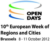 logo OPEN DAYS - 10th European Week of Regions and Cities Brussels - 8. - 11. October 2012