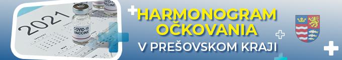Harmonogram očkovania vPrešovskom kraji