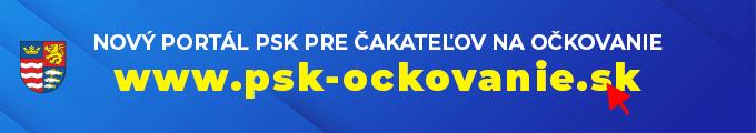 Nový portál prečakateľov naočkovanie - www.psk-ockovanie.sk